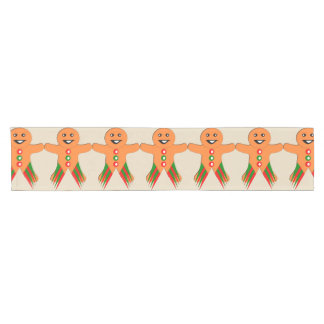 Christmas Party Gingerbread Man Table Runner