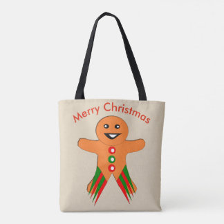 Christmas Party Gingerbread Man Tote Bag