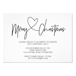 lunch christmas invitations announcements zazzle ca