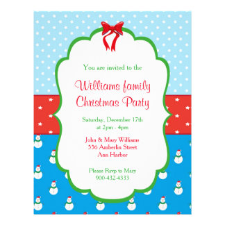 Christmas Party Invitations Flyer