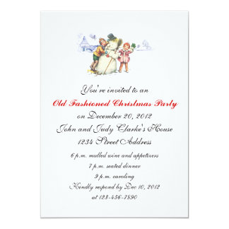 Christmas Party Invitations Vintage Snowman