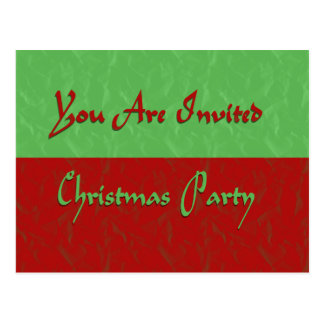 Christmas Party Invited Postcard