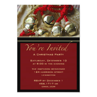 Christmas Party Jingle Bells Invitation