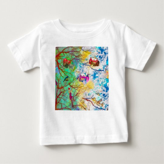 Christmas party on the tree baby T-Shirt