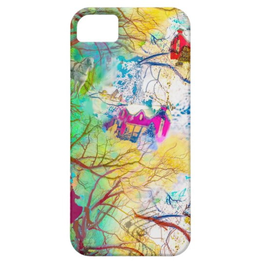 Christmas party on the tree case for the iPhone 5