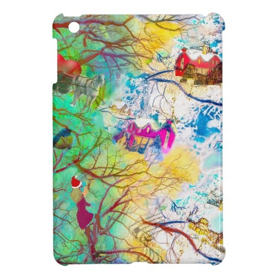Christmas party on the tree iPad mini case