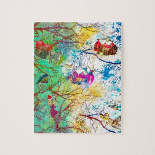 Christmas party on the tree jigsaw puzzle