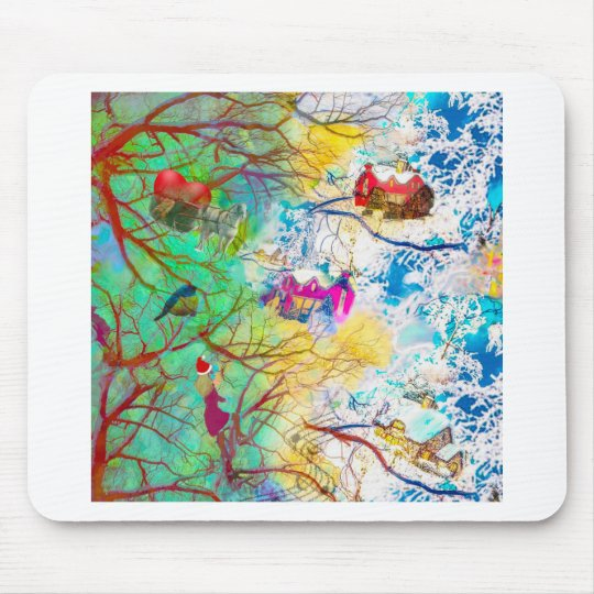 Christmas party on the tree mouse pad