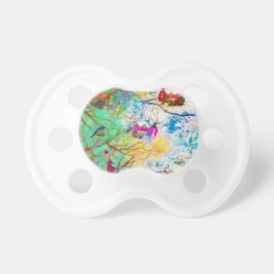Christmas party on the tree pacifier