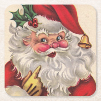 Christmas Party Santa Drink Coasters Set of 6