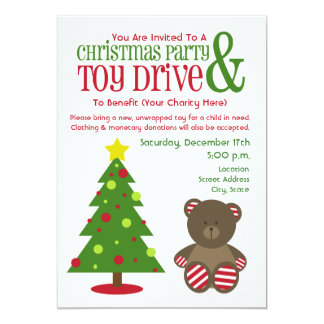 Christmas Party & Toy Drive Invitation