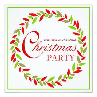 Christmas Party Wreath Invitation