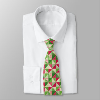 Christmas Patchwork red-green pattern Tie