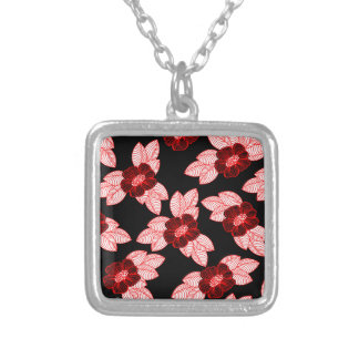 Christmas pattern 3 silver plated necklace