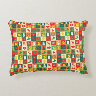 Christmas Pattern Accent Pillow