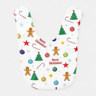 Christmas pattern bib