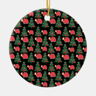 Christmas pattern ceramic ornament