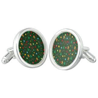 Christmas pattern cufflinks