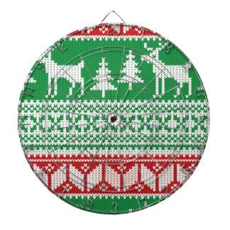 Christmas pattern dartboard