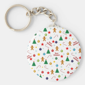 Christmas pattern keychain