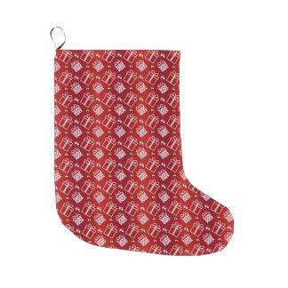 christmas pattern. large christmas stocking