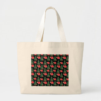 Christmas pattern large tote bag