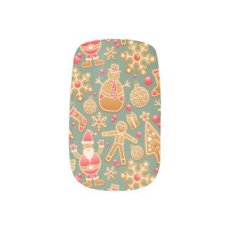 Christmas Pattern Minx Nail Art