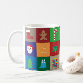 Christmas Pattern Mug - Colorful Background