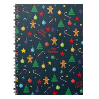 Christmas pattern notebook