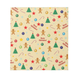 Christmas pattern notepad