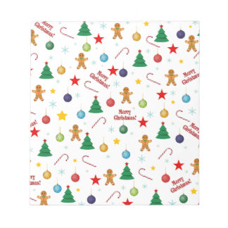 Christmas pattern notepad