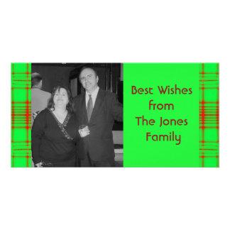 christmas pattern photo card