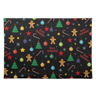 Christmas pattern placemat