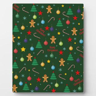 Christmas pattern plaque