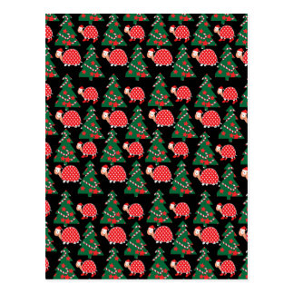 Christmas pattern postcard