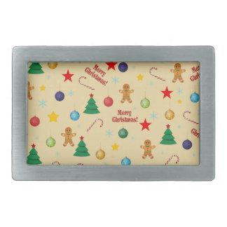 Christmas pattern rectangular belt buckle
