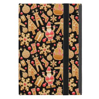Christmas Pattern-Santa Claus Tree Rudolph Snowman iPad Mini Cover