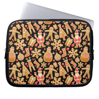 Christmas Pattern-Santa Claus Tree Rudolph Snowman Laptop Sleeve