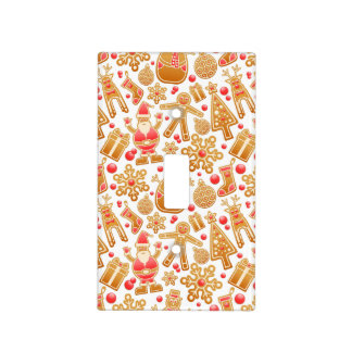 Christmas Pattern-Santa Claus Tree Rudolph Snowman Light Switch Cover