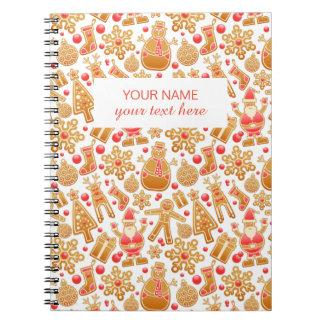 Christmas Pattern-Santa Claus Tree Rudolph Snowman Notebooks