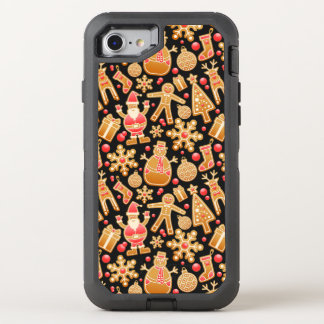 Christmas Pattern-Santa Claus Tree Rudolph Snowman OtterBox Defender iPhone 8/7 Case