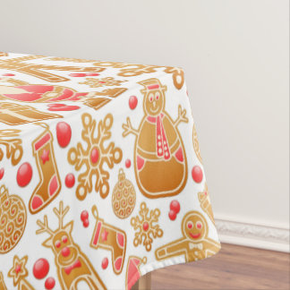 Christmas Pattern-Santa Claus Tree Rudolph Snowman Tablecloth