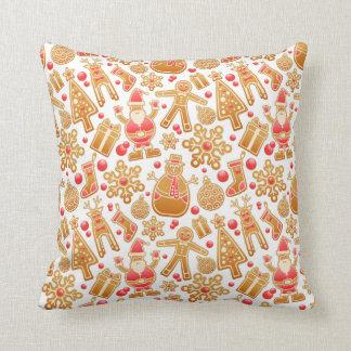 Christmas Pattern-Santa Claus Tree Rudolph Snowman Throw Pillow