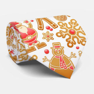 Christmas Pattern-Santa Claus Tree Rudolph Snowman Tie
