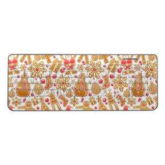 Christmas Pattern-Santa Claus Tree Rudolph Snowman Wireless Keyboard