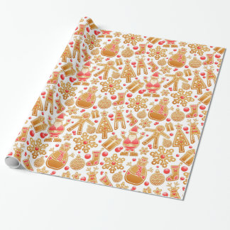 Christmas Pattern-Santa Claus Tree Rudolph Snowman Wrapping Paper