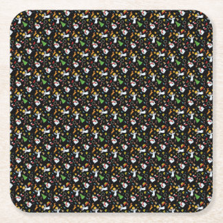 Christmas pattern square paper coaster