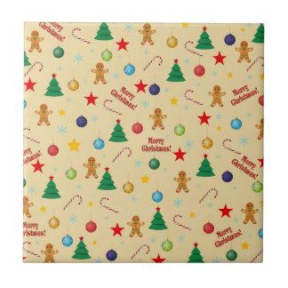 Christmas pattern tile