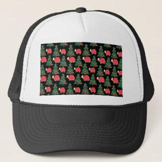 Christmas pattern trucker hat