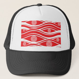 Christmas pattern trucker hat